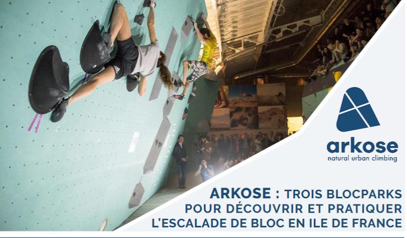 3 salles d'escalade en Ile-de-France